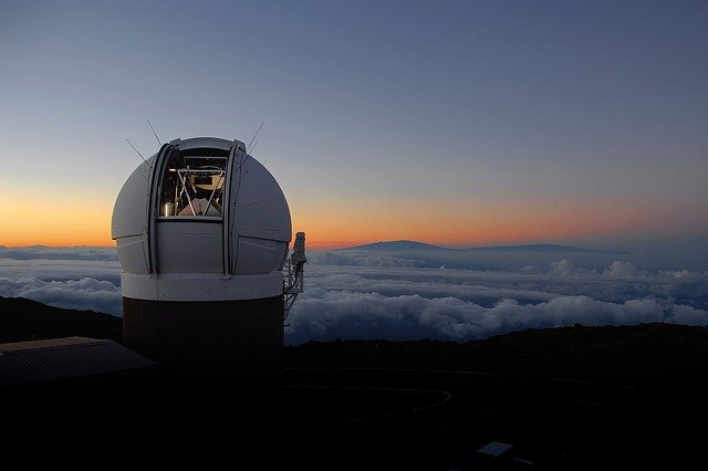 observatory in clouds