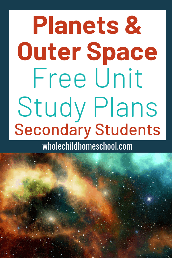 family schooling planets outer space unit study