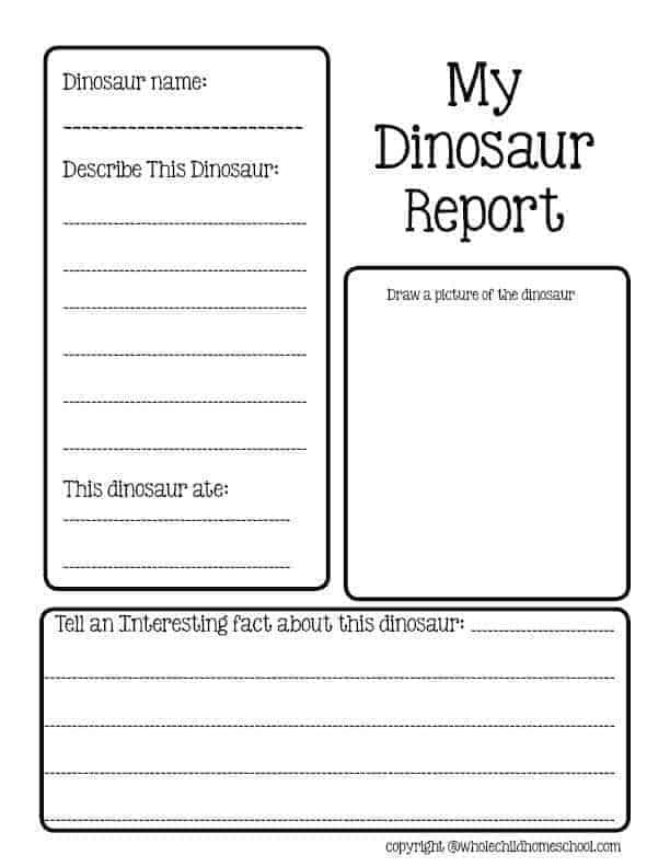 dinosaur report homeschool