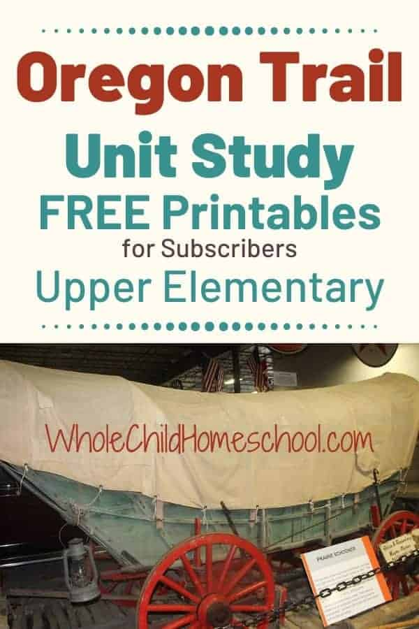 oregon trail homeschool