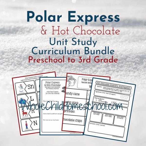 polar express hot chocolate primary bundle