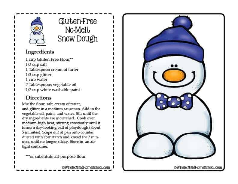 snow dough playdough mat