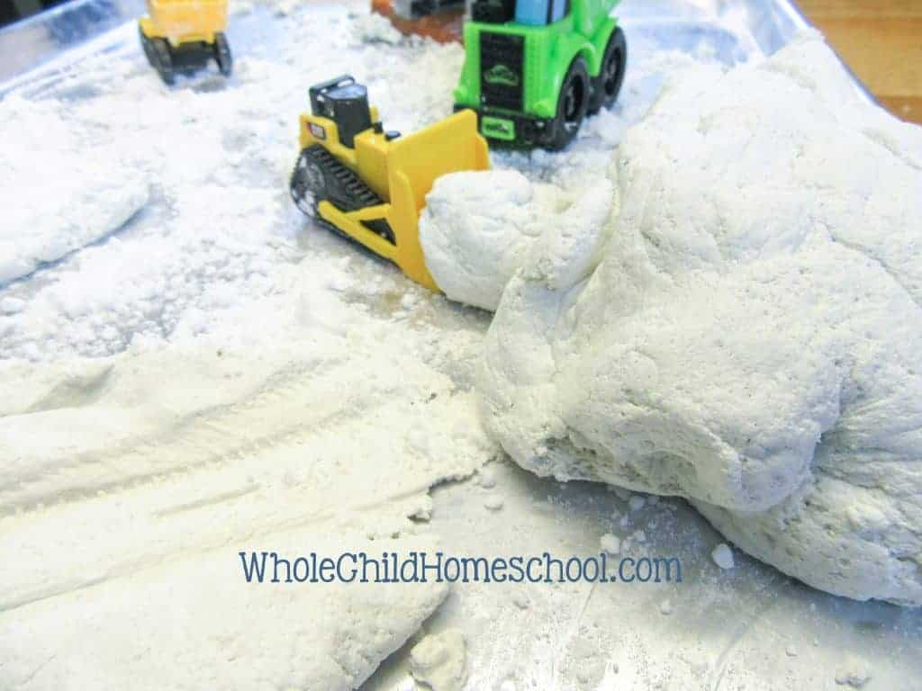 snow dough playdough