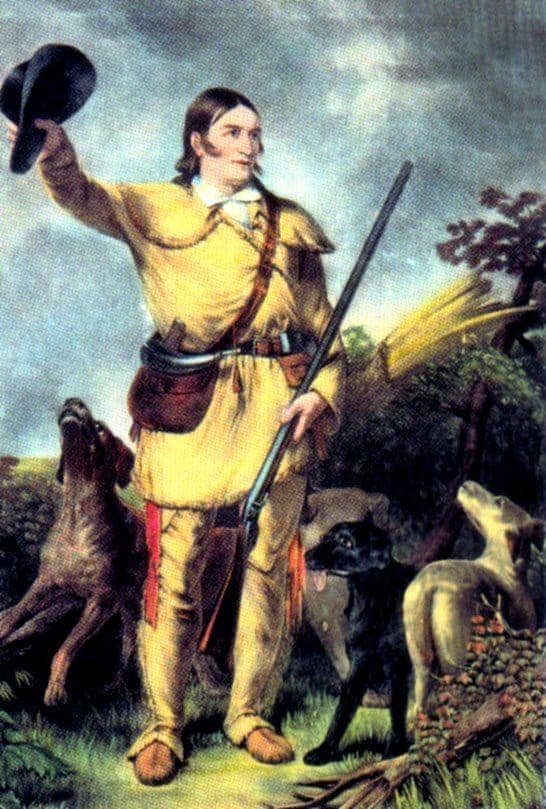 davy crockett portrait