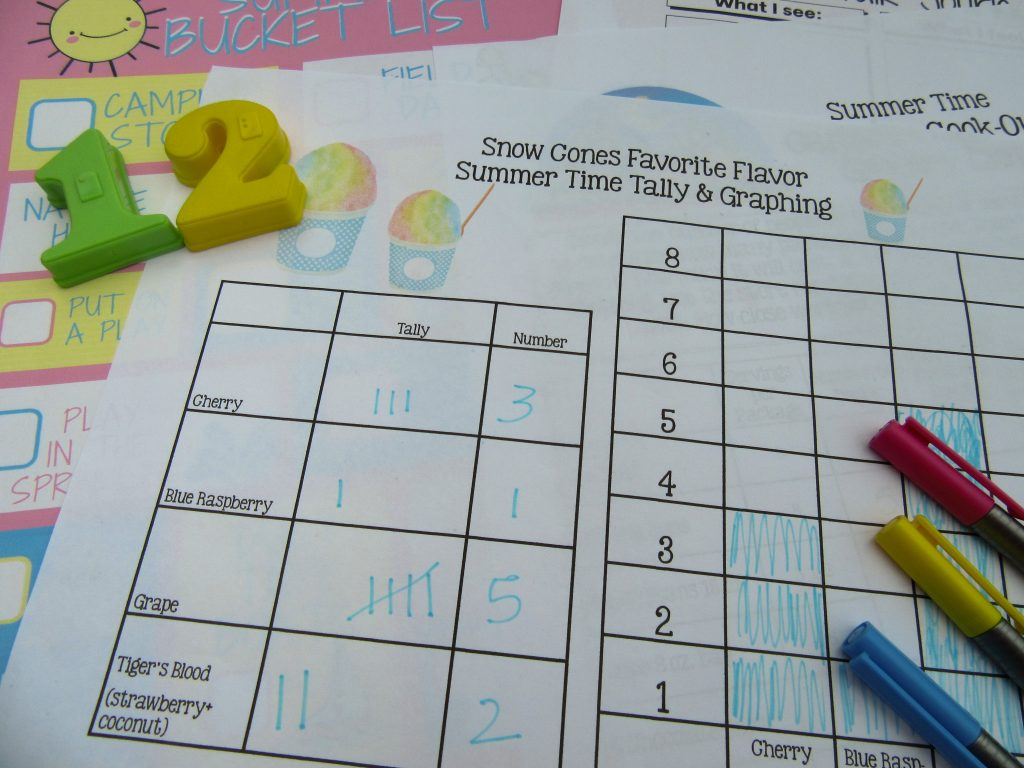 snow cone math summer activity