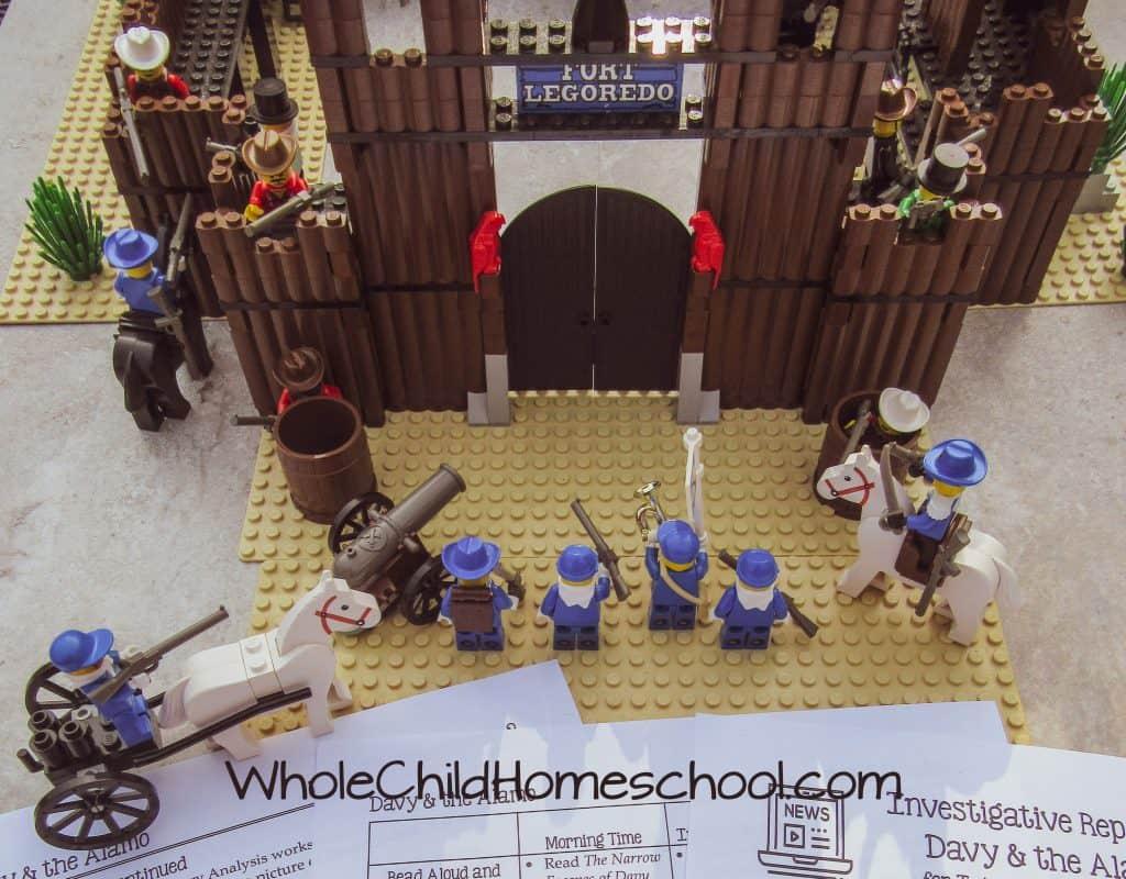 alamo built from legos