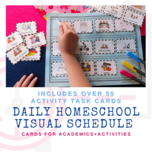 daily homeschool visual schedule