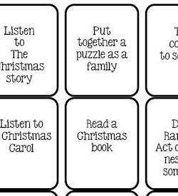 advent activity cards