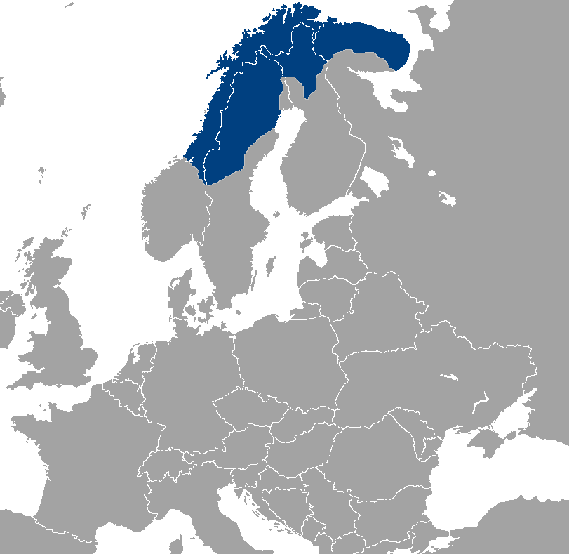 Saami people's location map