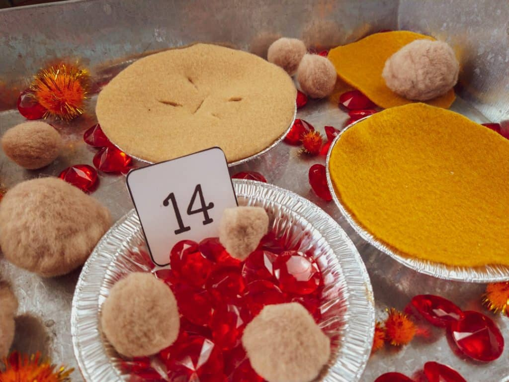 thanksgiving pies counting activity