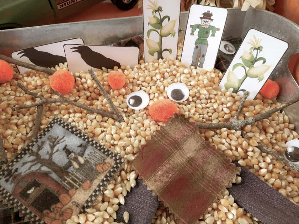 Scarecrow sensory and counting activity