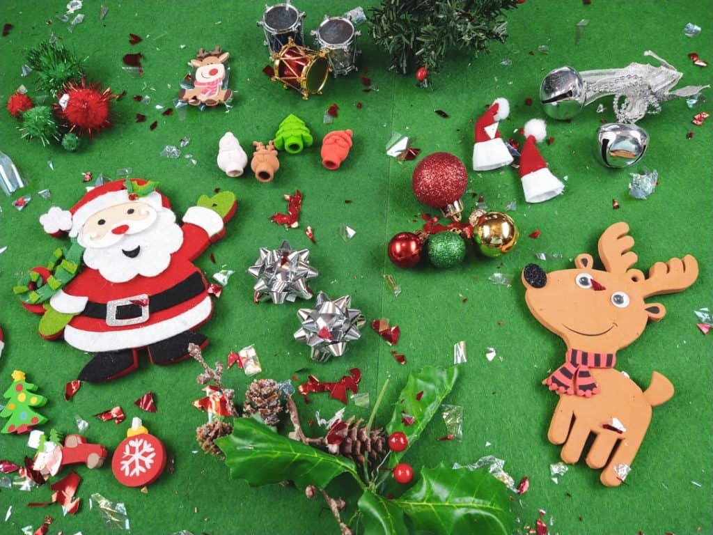 Traditional Christmas Symbols Sensory Bin