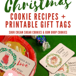 christmas cookies and gift tags