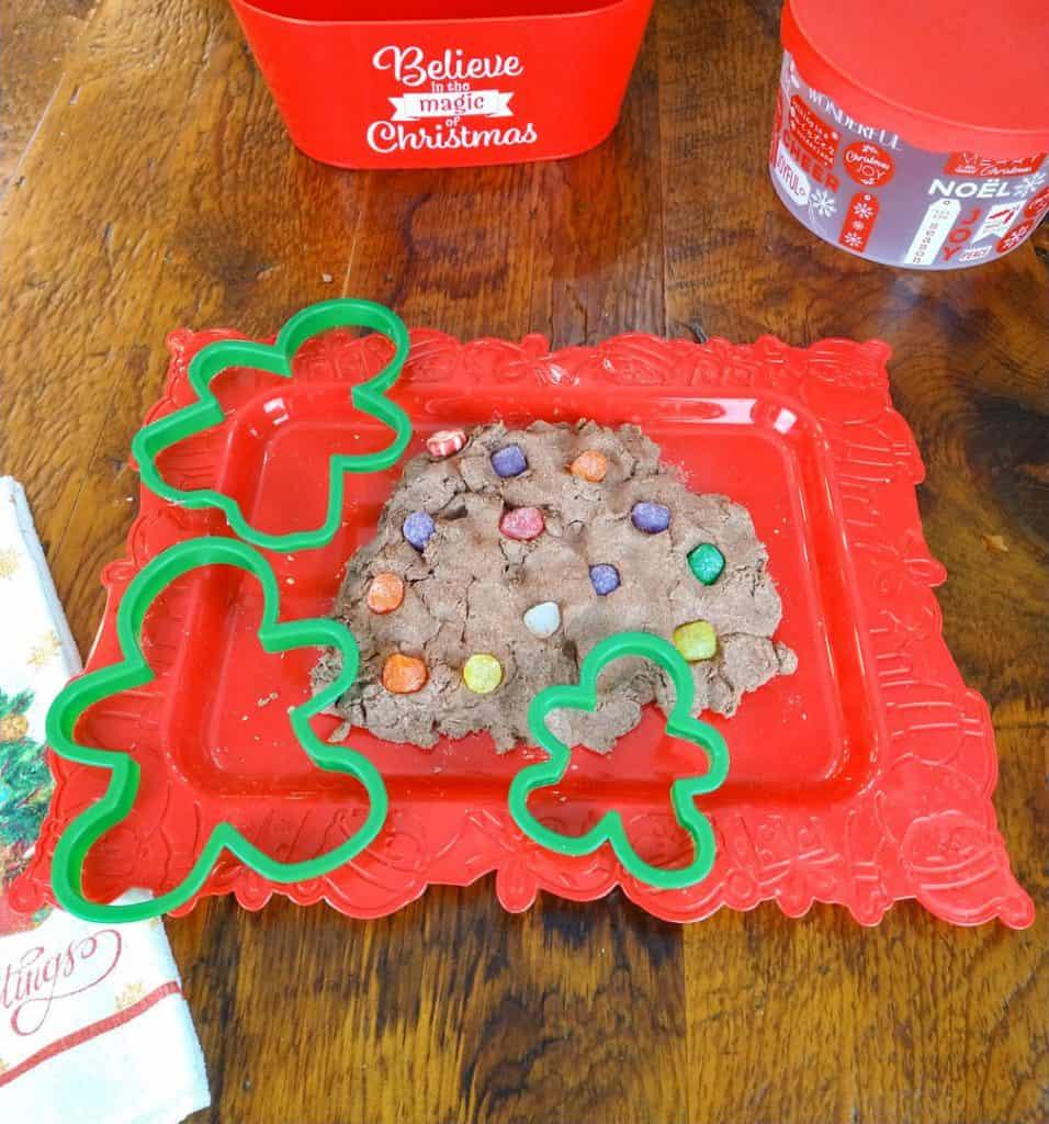 Fluffy Gingerbread Man Playdough